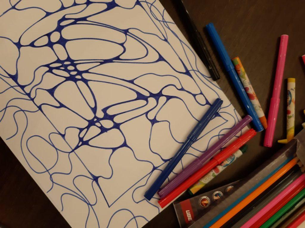 начало работы над рисунком