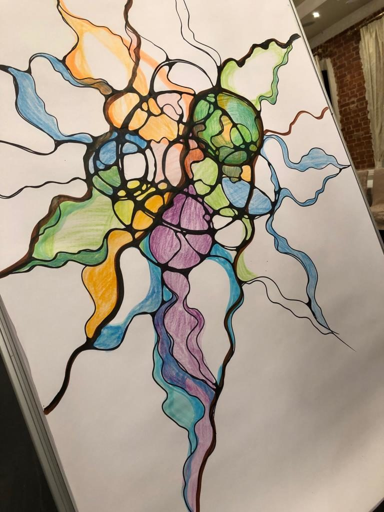 процесс рисования нейрографики